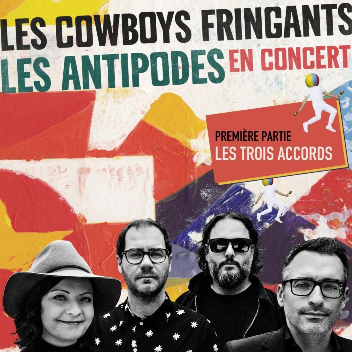 Les Cowboys Fringants avec les Trois Accords à Nantes.